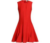 Fluted linen-blend dress