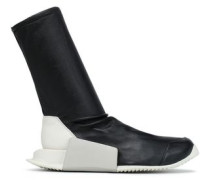 Stretch-leather sock boots