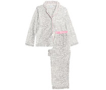 Checked fleece pajama set