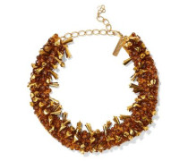 Gold-tone, Bead And Satin Necklace Gold Size --