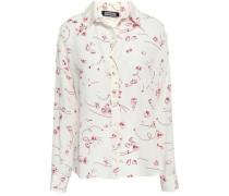 Printed Silk Crepe De Chine Shirt Off-white