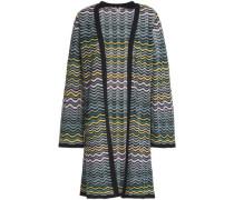 Crochet-knit Cotton-blend Cardigan Multicolor