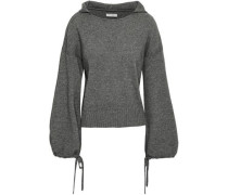 Mélange Wool And Cashmere-blend Hooded Sweater Anthracite