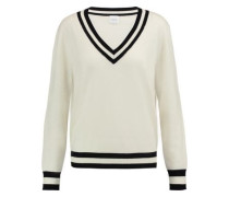 Hydra striped wool and cashmere-blend sweater