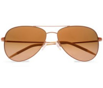 Aviator Gold-tone Sunglasses Rose Gold Size --