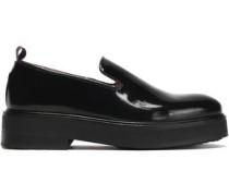 Palacio glossed-leather platform loafers