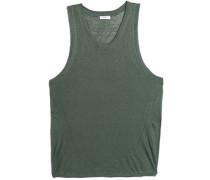 Slub linen-jersey coverup