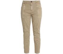Byrnes mid-rise stretch-cotton twill skinny pants