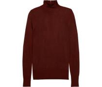 Open-knit turtleneck sweater