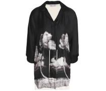 Printed Silk-twill And Cotton-jersey Shirt Black
