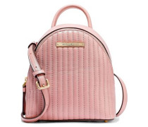 Mini Convertible Quilted Leather Backpack Blush Size --