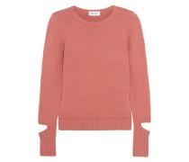 Cutout Cotton-blend Sweater Antique Rose