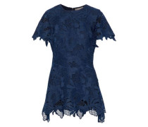 Wool-blend guipure lace top