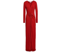 Gathered Jersey Gown Claret