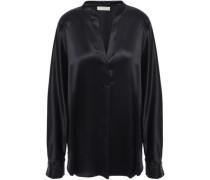 Silk-satin Blouse Black