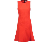 Cutout stretch-cotton dress