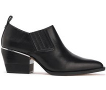 Roxy Leather Ankle Boots Black