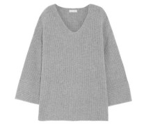 Ribbed merino wool and cashmere-blend sweater