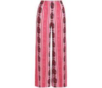Printed Crepe Wide-leg Pants Antique Rose Size 16
