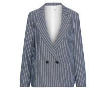 Woman Chupa Double-breasted Pinstriped Twill Blazer Cobalt Blue