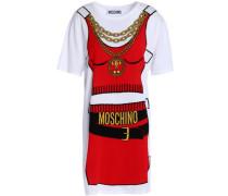 Intarsia cotton mini dress