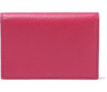 Panama Textured-leather Cardholder Fuchsia Size --