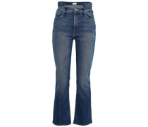 Cropped High-rise Bootcut Pants Mid Denim  8