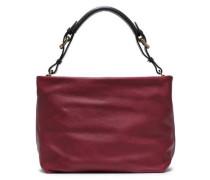 Woman Maxi Strap Pebbled-leather Shoulder Bag Claret