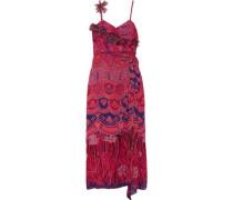 Zandra printed crinkled silk-chiffon maxi dress