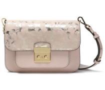 Metallic Printed Leather Shoulder Bag Baby Pink Size --