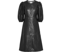 Leather Midi Dress Black