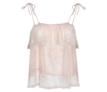 Aurora Ruffled Lace Camisole Baby Pink