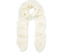 Faux Shearling Scarf Ivory Size --