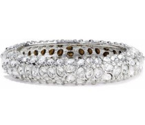 Silver-tone crystal bangle