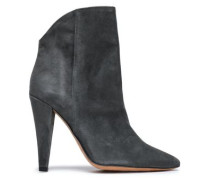 Amy Suede Ankle Boots Anthracite