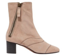 Woman Suede Ankle Boots Blush