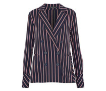 Kitty double-breasted striped twill blazer
