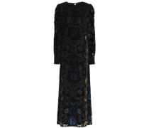 Devoré-velvet maxi dress