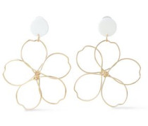 Gold-tone Acetate Earrings Gold Size --