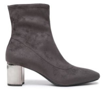 Paloma Faux Suede Ankle Boots Charcoal