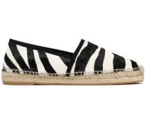 Zebra-print calf hair espadrilles