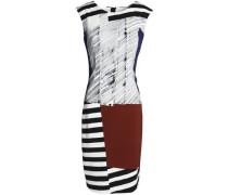 Printed stretch-crepe dress