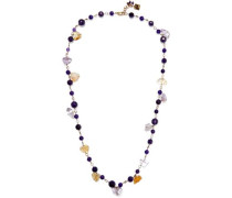 Verbier Gold-tone Quartz Necklace Purple Size --