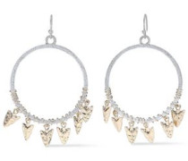 22-karat Gold And Rhodium-plated Earrings Silver Size --
