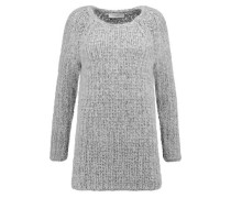 Wool-blend chunky-knit sweater