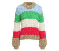 Woman Julliard Color-block Mohair And Wool-blend Sweater Multicolor