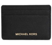 Logo-embellished Textured-leather Cardholder Black Size --