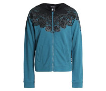 Printed French cotton-blend terry jacket