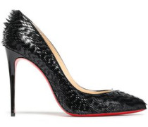 Frayed Patent-leather Pumps Black