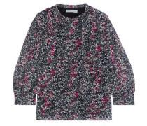 Woman Billie Floral-print Chiffon Blouse Black